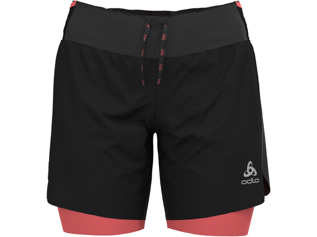 "Odlo Axalp Trail 6"" 2-in-1 Shorts Women, negro"